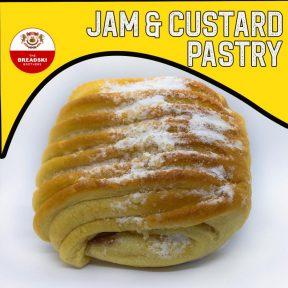 Jam and custard pastry